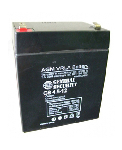 Аккумулятор GS 4,5 А/ч 12В