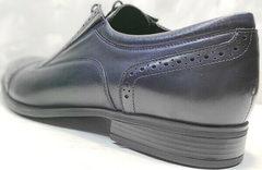 Демисезонные туфли классика мужские Ikoc 3805-4 Ash Blue Leather.