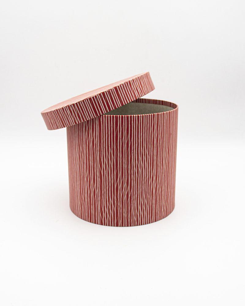 Коробка Цилиндр Бордовая Большая
