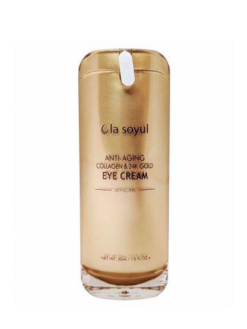 LA SOYUL Anti-Aging Collagen & 24K Gold Eye Cream / Антивозрастной крем для кожи вокруг глаз с коллагеном и частицами 24К золота, 30 мл
