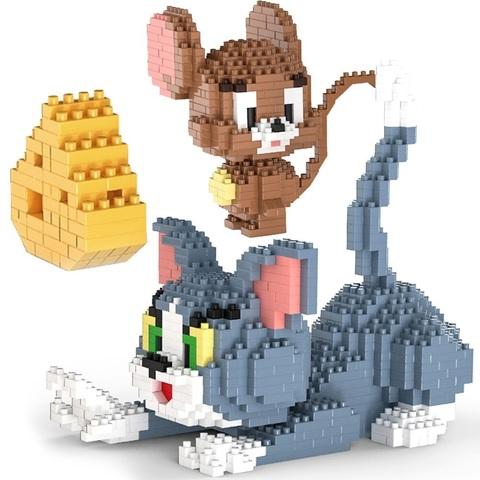 Конструктор 3D 9013 Кот и мышь, 1524 дет.