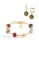 Комплект Carnavale Oro (бронзовые серьги на серебре, браслет)