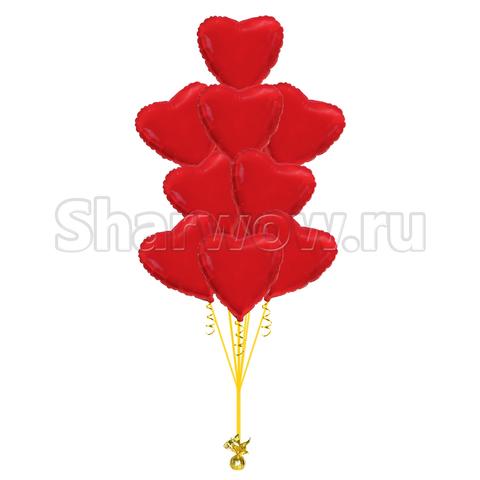 фонтан шаров красные сердца