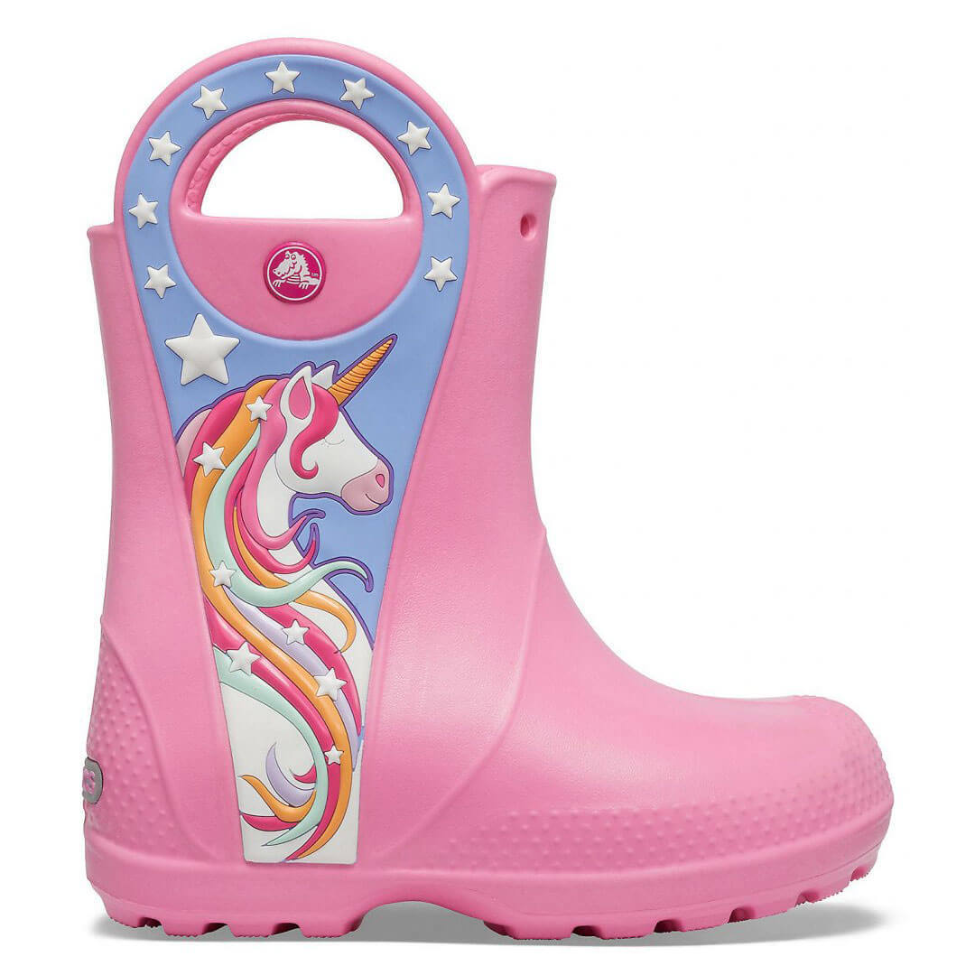 Детские сапоги Crocs Girls' Fun Lab Unicorn Patch Rain Boot
