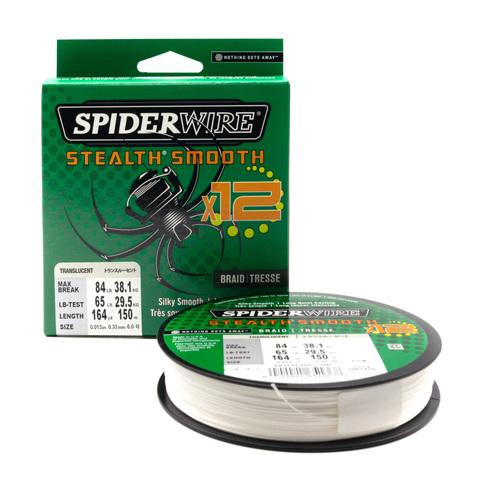 Плетеная леска Spiderwire Stealth Smooth 12 Braid Полупрозрачная 0,33 мм., 38,1 кг., 150 м. (1507370)