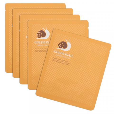 Гидрогелевая маска для лица ЗОЛОТО/МУЦИН УЛИТКИ Gold&Snail Transparent Gel Mask Pack