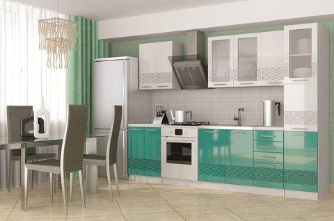 Кухня Олива 3D с пеналом. 2.2 м-