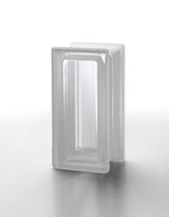 Стеклоблок полуматовый половинка бесцветный гладкий Vetroarredo Neutro R 09 T 19x9x8