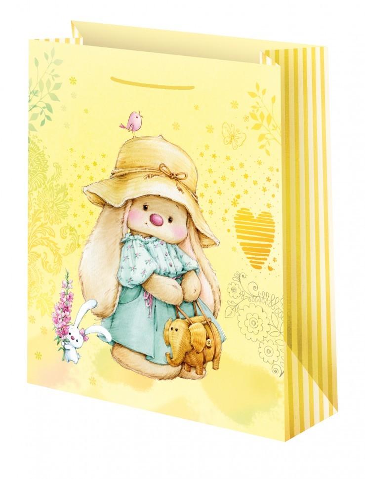 Подарочный пакет Зайка Ми в шляпке (большой)