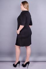 Чикаго. Стильное черное платье больших размеров. Черный.