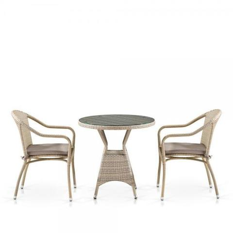 Комплект плетеной мебели T705ANT/Y480C-W85 Latte 2Pcs