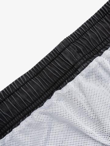 """Swim shorts """"Dark carbon with short stripe VELIKOROSS"""""""