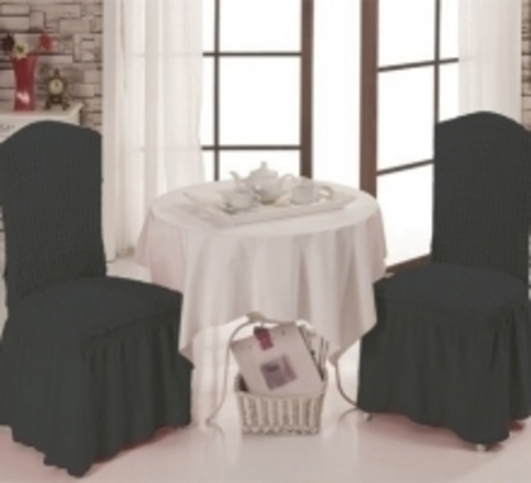 Чехлы на стулья (2 шт) цвет темно-серый