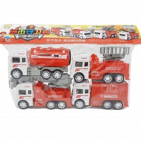 Набор машинок инерция - Пожарная Техника в уп 4шт