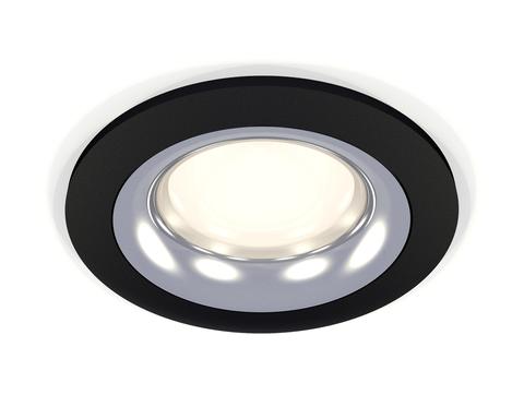Комплект встраиваемого светильника XC7622003 SBK/PSL черный песок/серебро полированное MR16 GU5.3 (C7622, N7012)