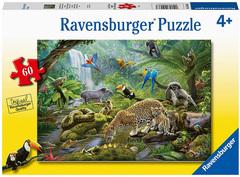 Puzzle Rainforest Animals 60 pcs