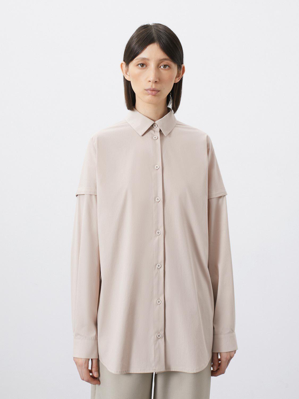 Рубашка Carolina с горизонтальным защипом