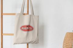 Сумка-шоппер с принтом Bugatti (Бугатти) бежевая 0011