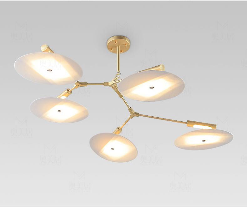 Потолочный светильник копия Branching Discs by Lindsey Adelman (9 плафонов, черный)