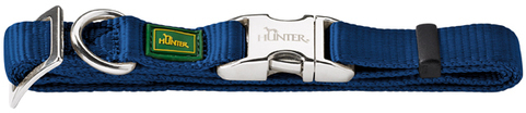 Ошейники Ошейник для собак, Hunter ALU-Strong M (40-55 см), нейлон с металлической застежкой, темно-синий 43959.jpg