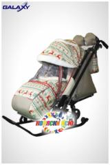 Санки коляска GALAXY KIDS 1-2 «скандинавия - белая ночь»