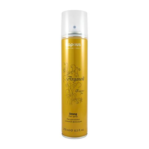 Лак аэрозольный для волос нормальной фиксации с маслом арганы Kapous, 250ml.