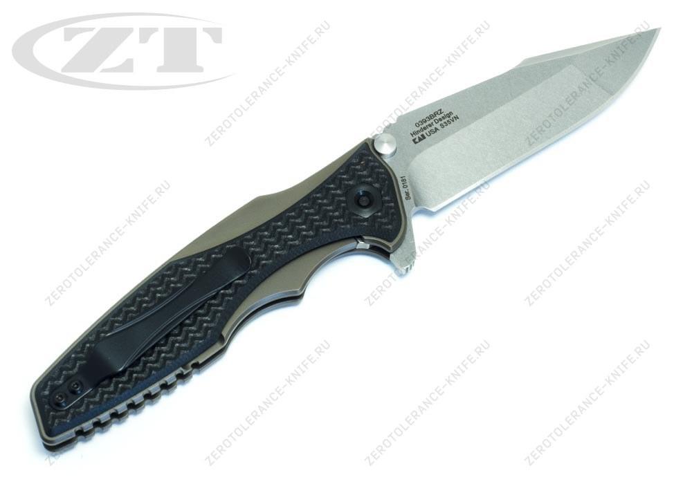 Нож Zero Tolerance 0393BRZ Rick Hinderer - фотография