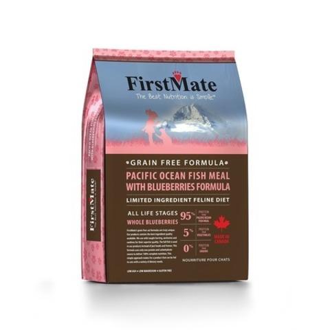 FirstMate Pacific Ocean Fish Meal With Blueberries сухой беззерновой корм для взрослых кошек с рыбой и голубикой 4,54 кг.