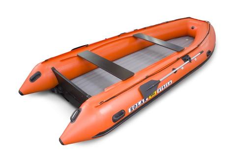 Надувная ПВХ-лодка Солар - 450 Strela Jet Tunnel (оранжевый)