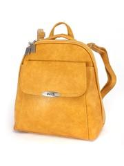 Рюкзак горчичного цвета с объемным накладным карманом
