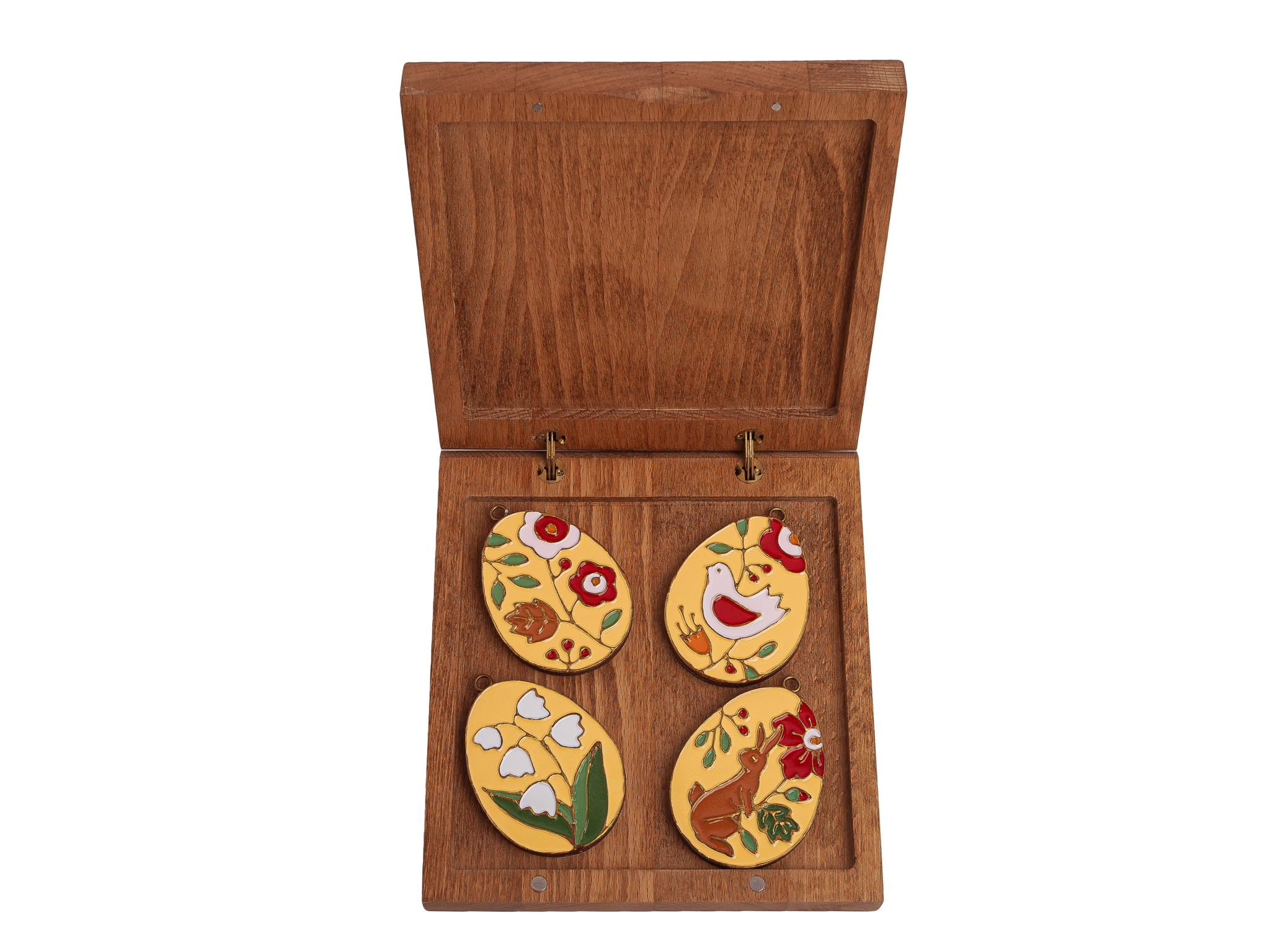 Подарочный набор из четырех пасхальных яиц в средней коробке