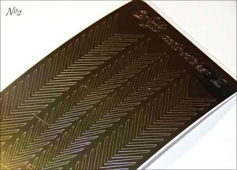 Металлизированные наклейки Arti nails Stiker цвет золото №2 купить за 100руб