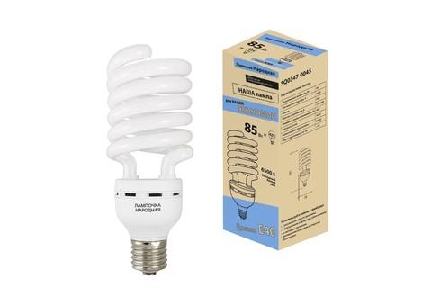 Лампа люминесцентная НЛ-HS-85 Вт-6500 К–Е40