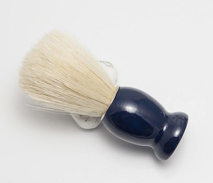 RAZ302-4 Помазок из щетины кабана с деревянной рукояткой синего цвета