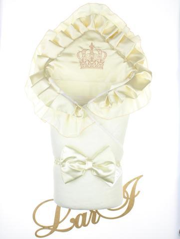 Конверт одеяло Элегантность (кремовый/кремовый)