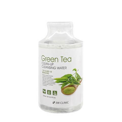 3W CLINIC Очищающая вода с экстрактом зеленого чая Green Tea Clean-Up Cleansing Water