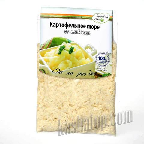 Картофельное пюре со сливками 'Здоровая еда', 60 г