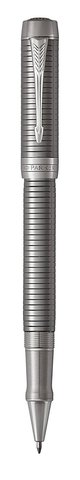 1931368 Parker Duofold Prestige Centennial, Ruthenium Chiselled CT ручка-роллер