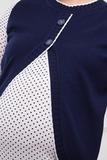 Джемпер для беременных 03816 синий