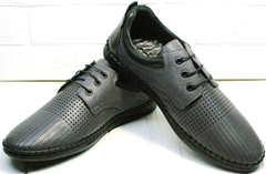 Стильные мужские туфли летние в дырку Ridge Z-430 75-80Gray