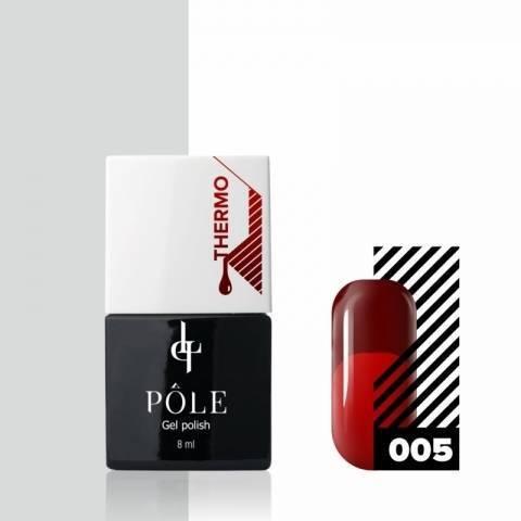 Гель-лак POLE - термо №05 - кирпичный/красный (8 мл.)