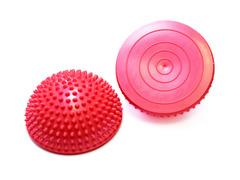 Полусфера Original FitTools массажно-балансировочная (набор 2 шт) красный - 2