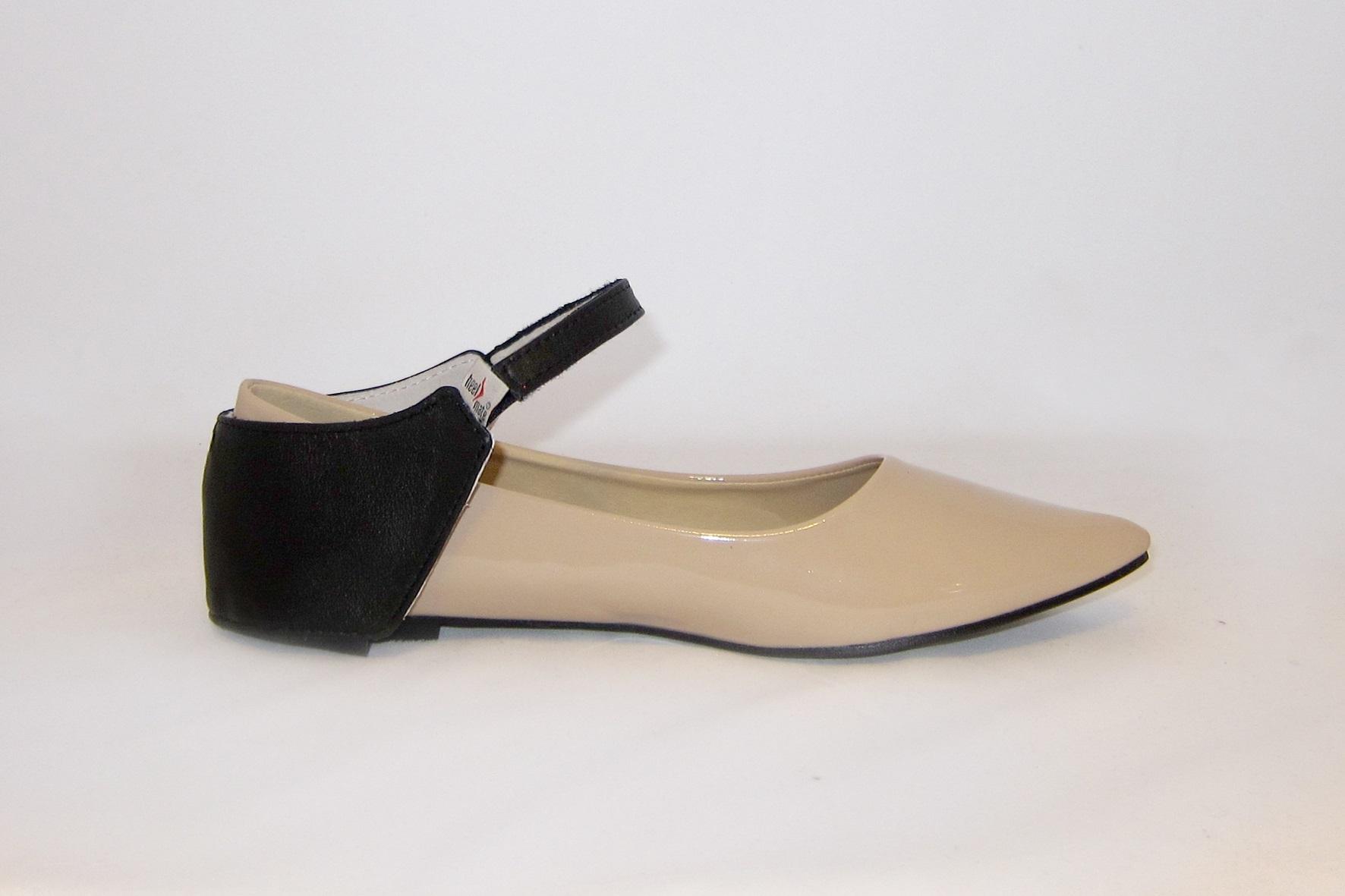 Автопятка из натуральной кожи для женской обуви без каблука.