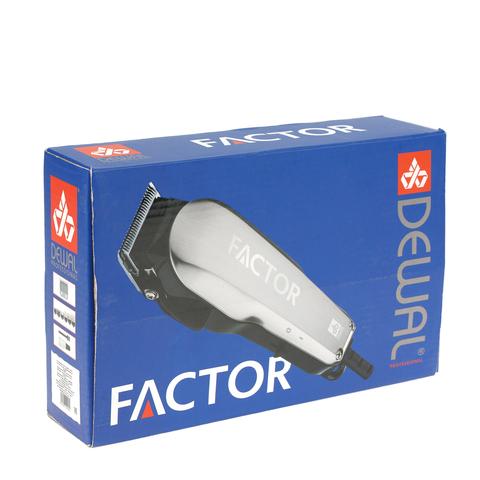 Машинка для стрижки Dewal Factor, сетевая, 6 насадок, белая