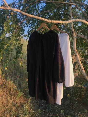 Платье-шитье мини черное