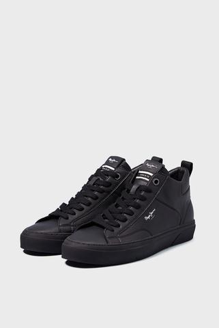 Мужские черные кожаные кеды YOGI ORIGINAL BOOT Pepe Jeans