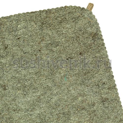коврик для бани из серого войлока