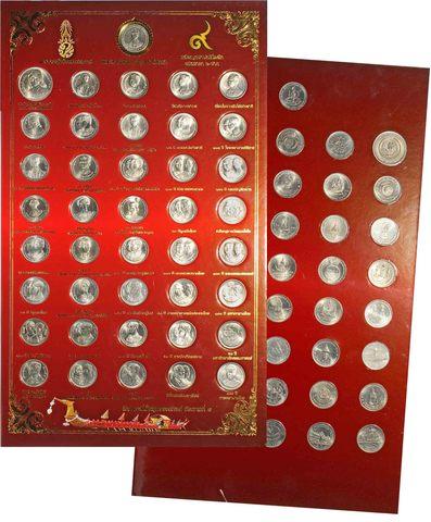Набор из 41 монеты. Тайланд. UNC. На планшете