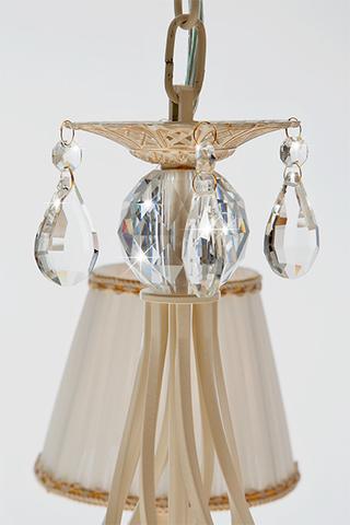Люстра с хрусталем 10054/5 белый с золотом