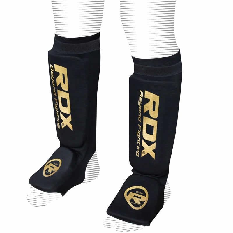 Защита ног Щитки RDX Hosiery Shin Instep Foam Black/Gold 1.jpg